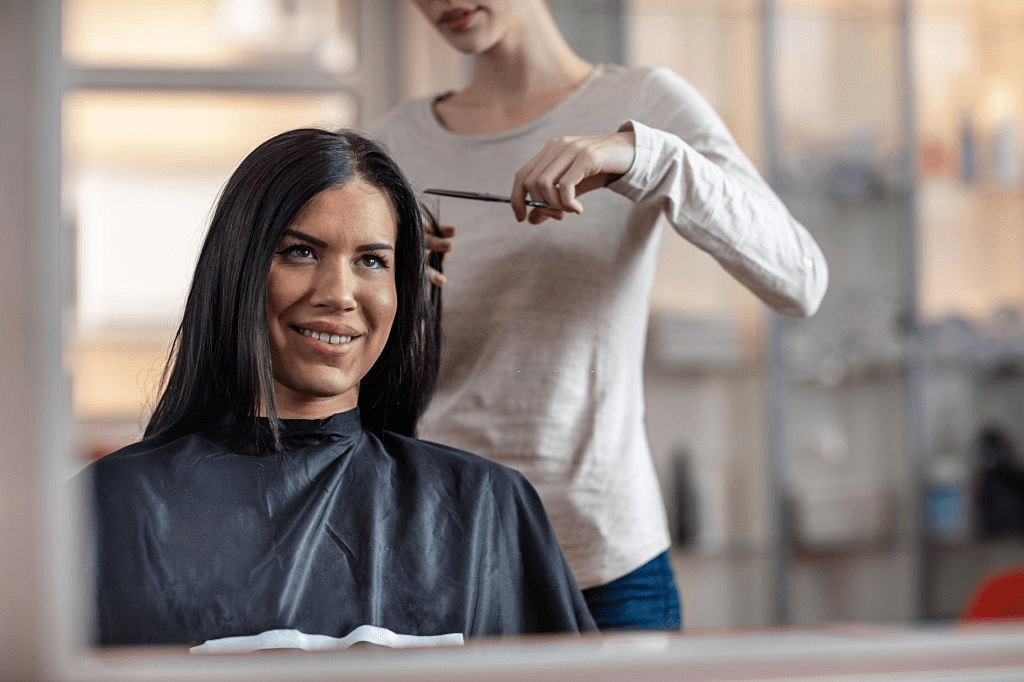Getting a haircut makes hair healthier but it will also get rid of damaged hairs